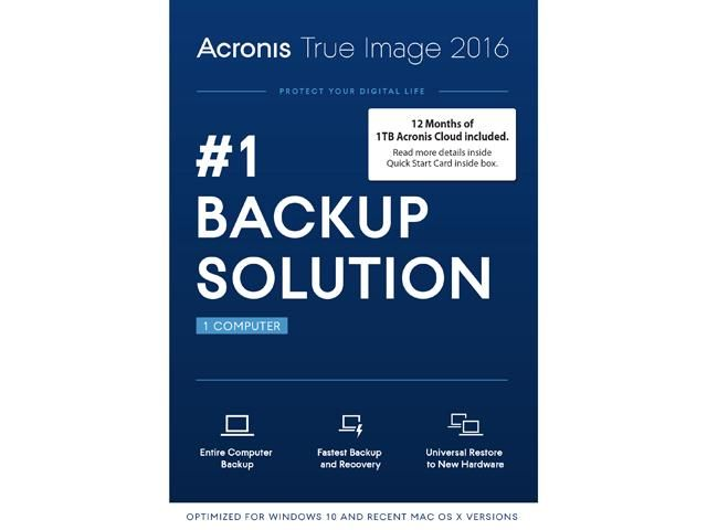Acronis True Image 2016 W 1tb Cloud Storage Free After 40 Rebate Newegg Lavahot Http Www Lavahotdeals Com Us Cheap Acronis True Image Cloud Storage True