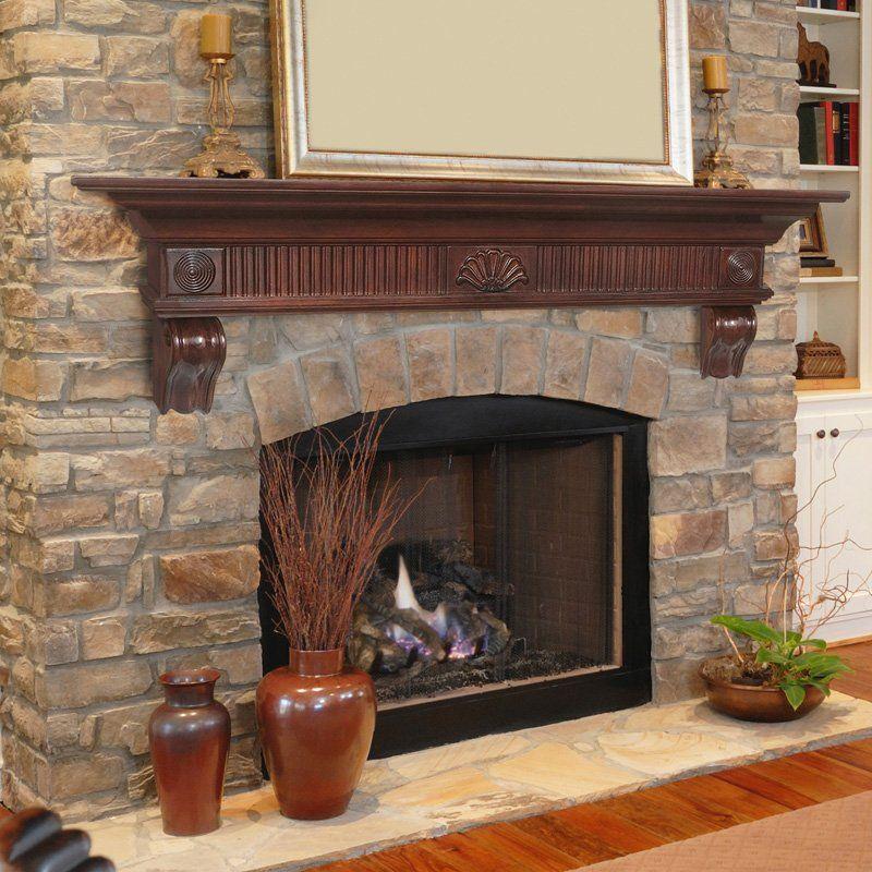 Pearl Mantels Devonshire Traditional Fireplace Mantel Shelf Wood