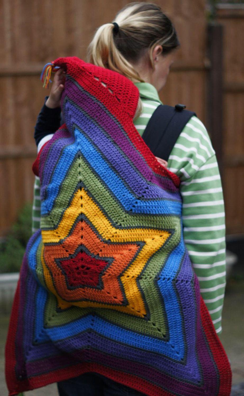 Rainbow Babywearing Blanket | #momlife | Ropa bebe ...