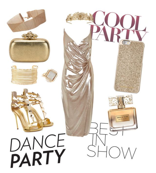 """""""New years Dance partyyy!🎉"""" by anggicrst ❤ liked on Polyvore featuring Givenchy, Michael Kors, River Island, Alexander McQueen, Charlotte Russe and GUESS"""