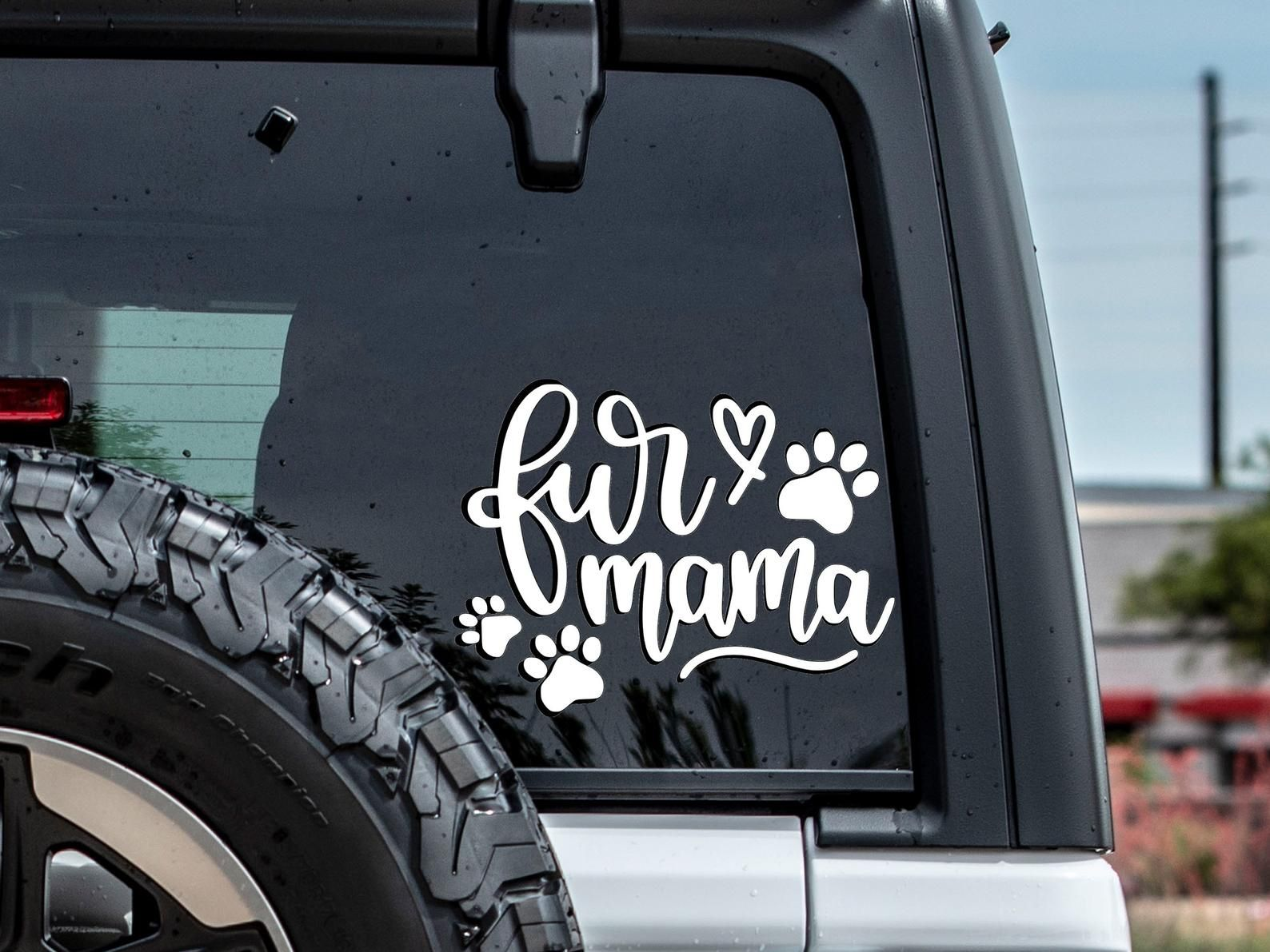 Fur Mama Car Decal Car Decals For Women Cute Vinyl Decals Etsy Car Decals Fur Mama Car [ 1191 x 1588 Pixel ]