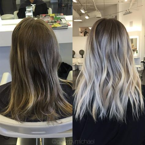 TRANSFORMATION: Faded To Light Ash Rooty Blonde #lightashblonde