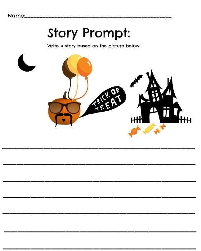 FREE Pumpkin Themed Worksheet Math and Story Printables | Writing ...