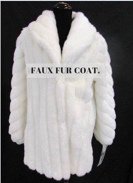 NWT Women s Monterey Fashions USA  White Faux Fur Coat Size 12     NWT Women s Monterey Fashions USA  White Faux Fur Coat Size 12  by  ChristisClosetMB on Etsy