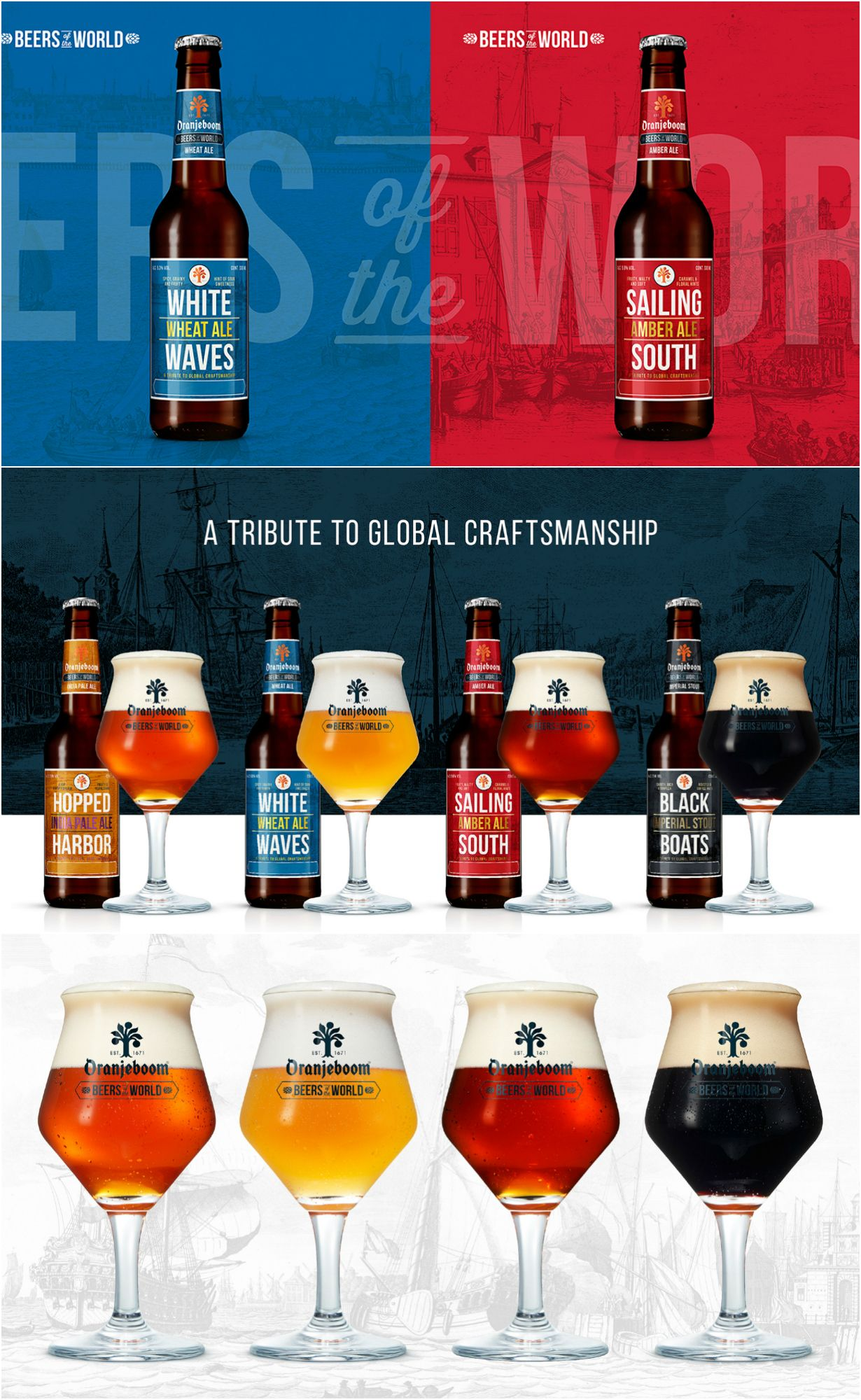 Oranjeboom Beers Of The World A Tribute To Global Craftsmanship Beers Of The World Drinks Packaging Design Beer