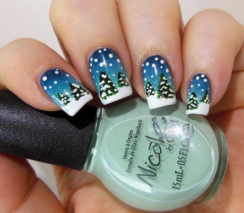Winter snow nail art nails and nail polish designs pinterest winter snow nail art prinsesfo Gallery