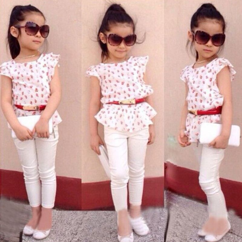 8672d3aad670fd4552b3b78b77a618eb new casual baby girls floral shirt and pants oufit sets fit 1 6y,Childrens Clothes Regina