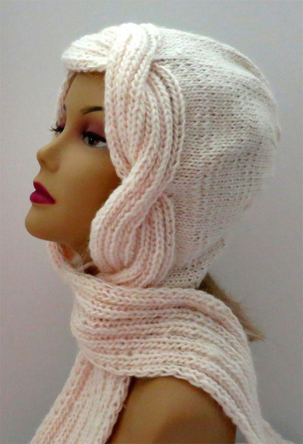 Knitting Pattern For Snow Goddess Hooded Scarf Free Knitting