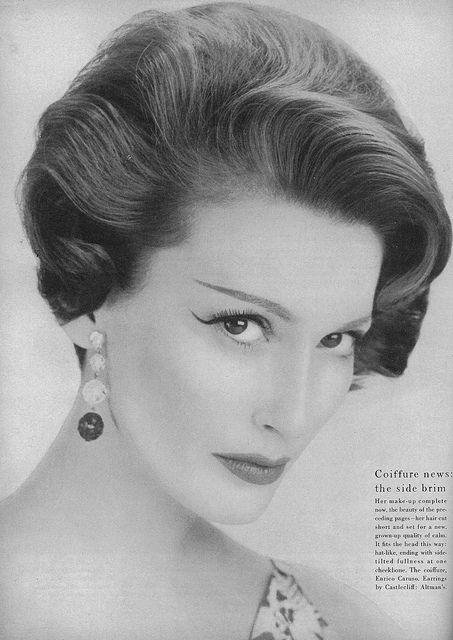May Vogue 1957 1950 Fashion Pinterest Vintage Hair Hair