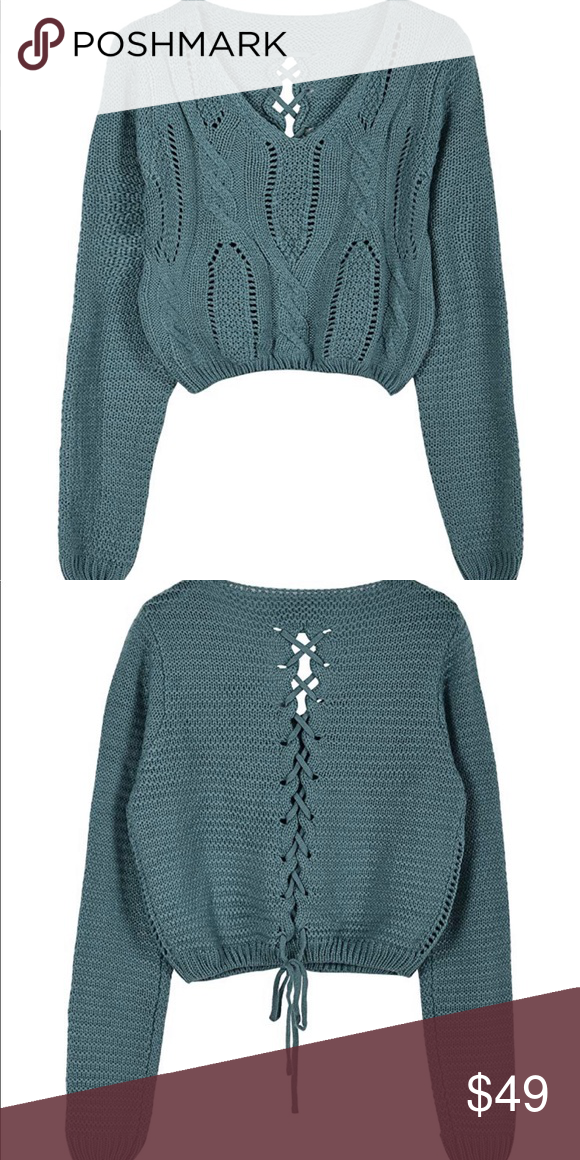 Laced Back Knit Sweater