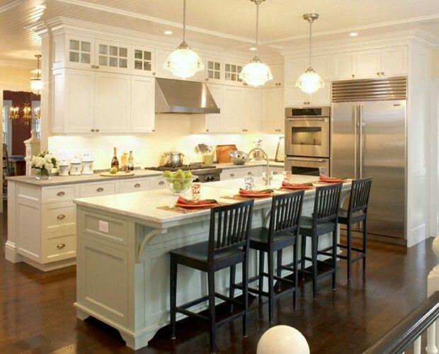 clean rectangular island galley kitchen design kitchen on 91 Comfortable Kitchen Design Tips 2020 id=54517