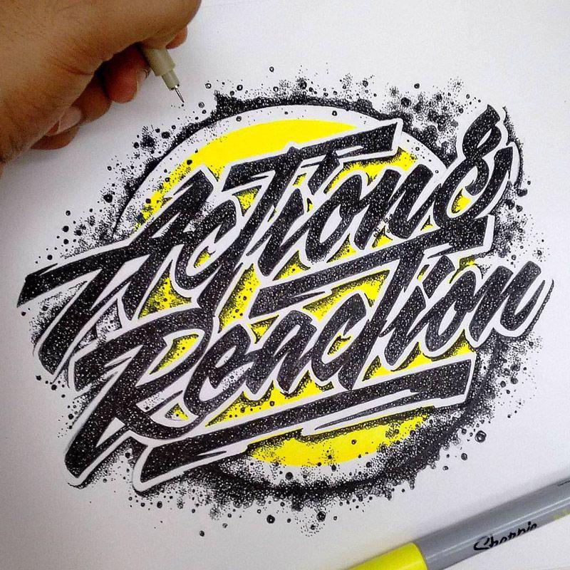 Handlettering designs by Juantastico Loghi, Lettere