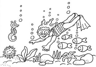 Sommer Taucherin Im Meer Ausmalen Zum Ausmalen Malvorlagen Kostenlose Malvorlagen Ausmalen