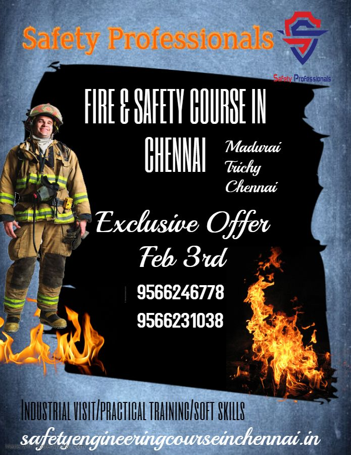 safety professional fire and safety course in chennai