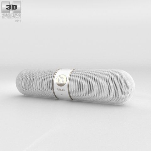 Beats Pill 20 Wireless Speaker Gold 3D Model .max .c4d .obj .3ds .fbx .lwo .stl @3DExport.com by humster3D