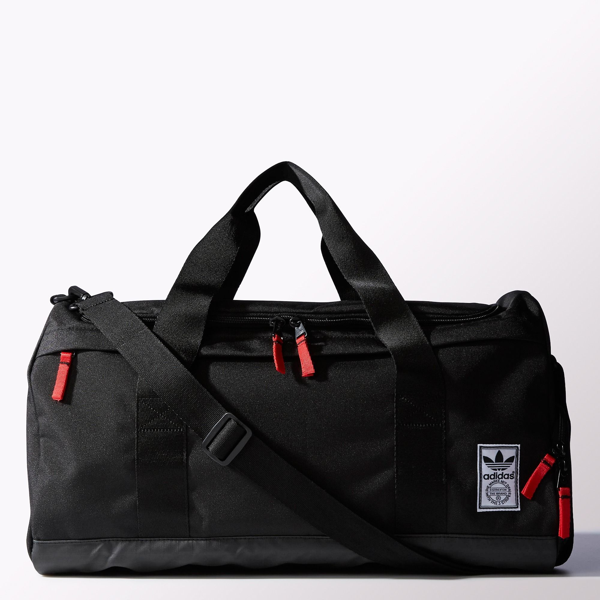 ff321b18c0 adidas - Americana Duffel Bag Black / Light Scarlet H75893 | Carry ...