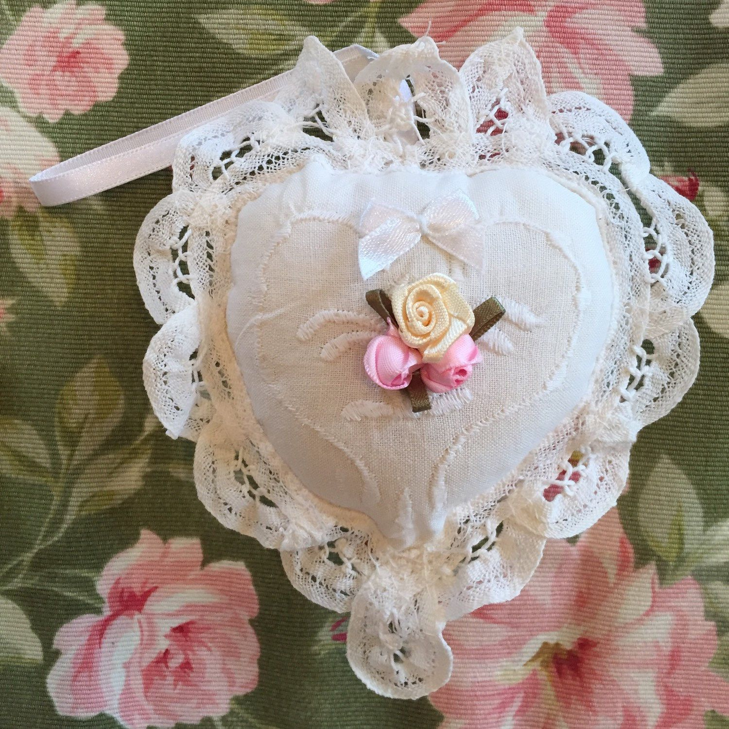 This pillow sachet is ultra feminine and the perfect bridal shower, baby shower or birthday gift!