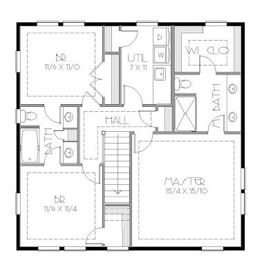 Shared Bathroom Layout House Plans By Korel Home Designs Jack And Jill Bathroom Craftsman Style House Plans Bathroom Floor Plans
