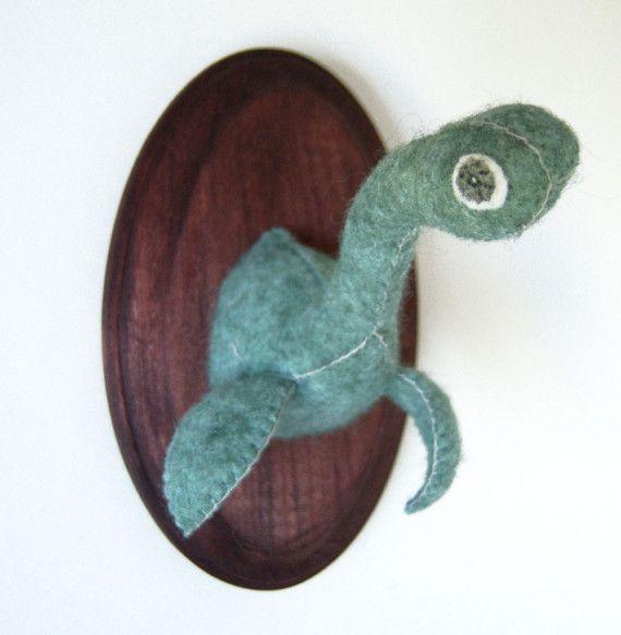 Loch Ness Monster Feltidermy Monster Decorations Crafty Loch
