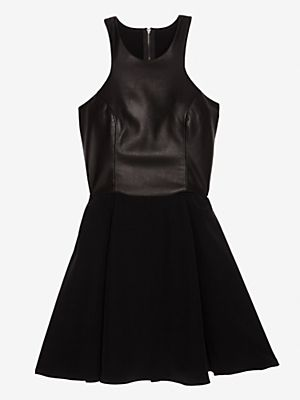 Mason Leather Bodice Minidress
