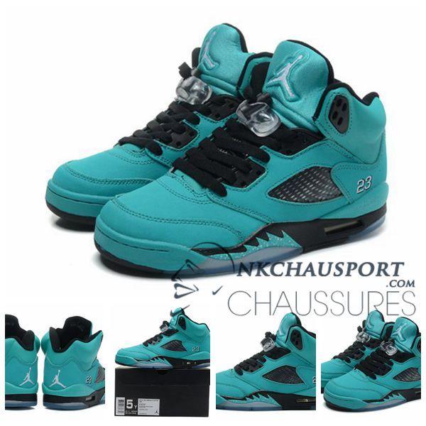 Nike Air Jordan 5 | Classique Chaussure De Basket Homme Vert-2
