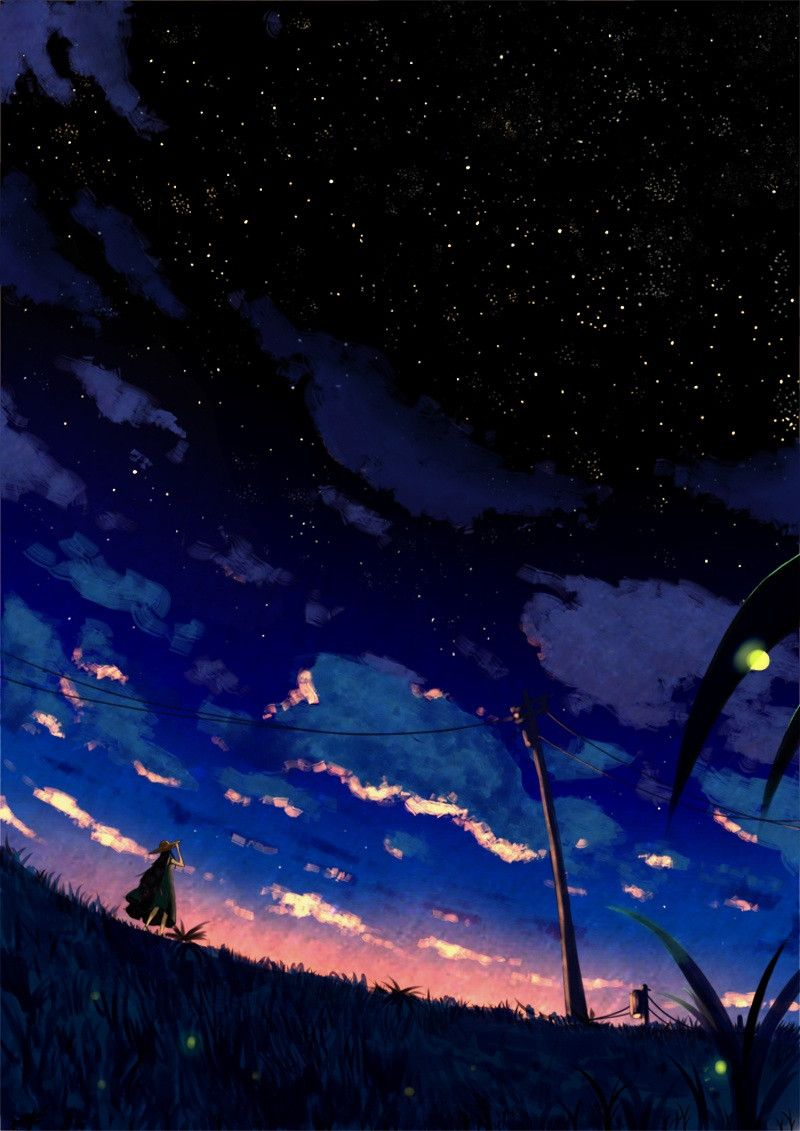 Kết Quả Hinh ảnh Cho 二 次元 綺麗 な アニメの風景 風景 夜空