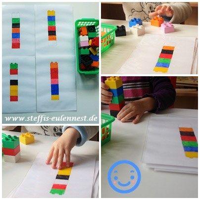 lego spiele f r kinder kita krippe kindergarten bausteine aufzeichnen farbspiel. Black Bedroom Furniture Sets. Home Design Ideas