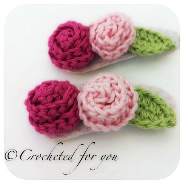 Crochet hair clips | Haarklammer, Häckeln und Kinderspielzeug