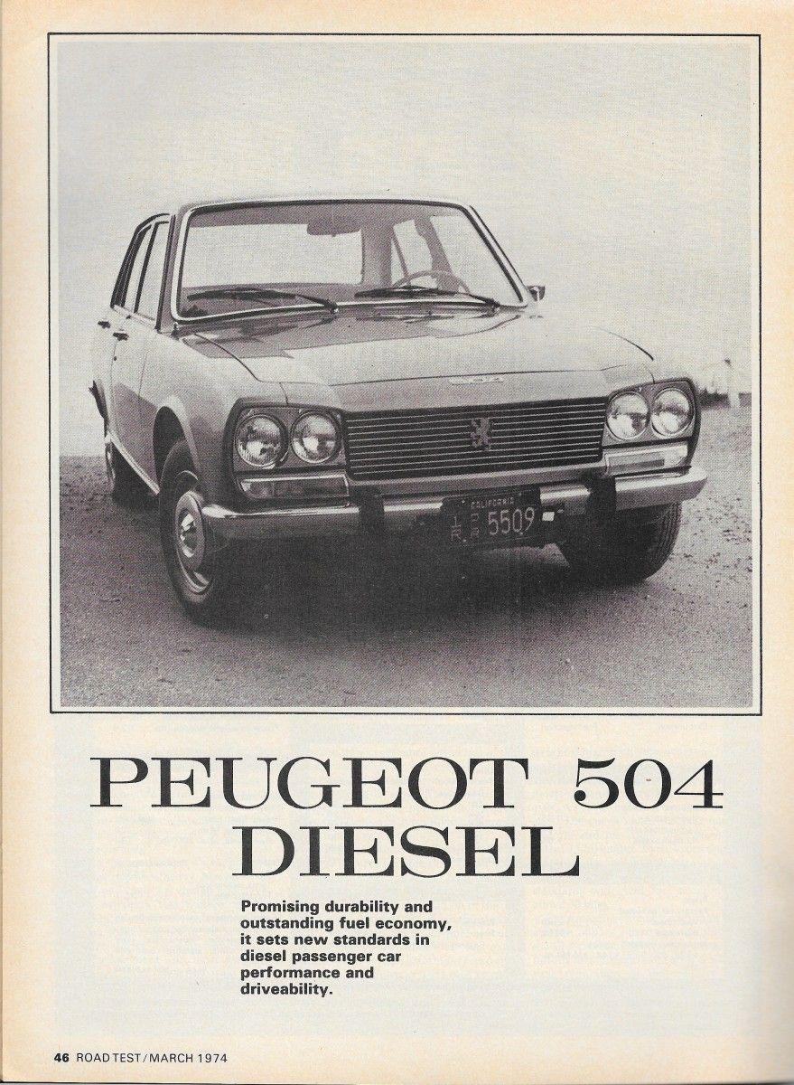 Vintage Review 1974 Peugeot 504D Doctor Diesel's Pug