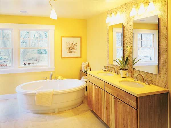 Attractive 12 Sunny Yellow Bathroom Design Ideas