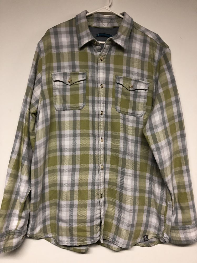 0e4d5796f The North Face Size XL Flannel Shirt Mens Button Front Plaid ...