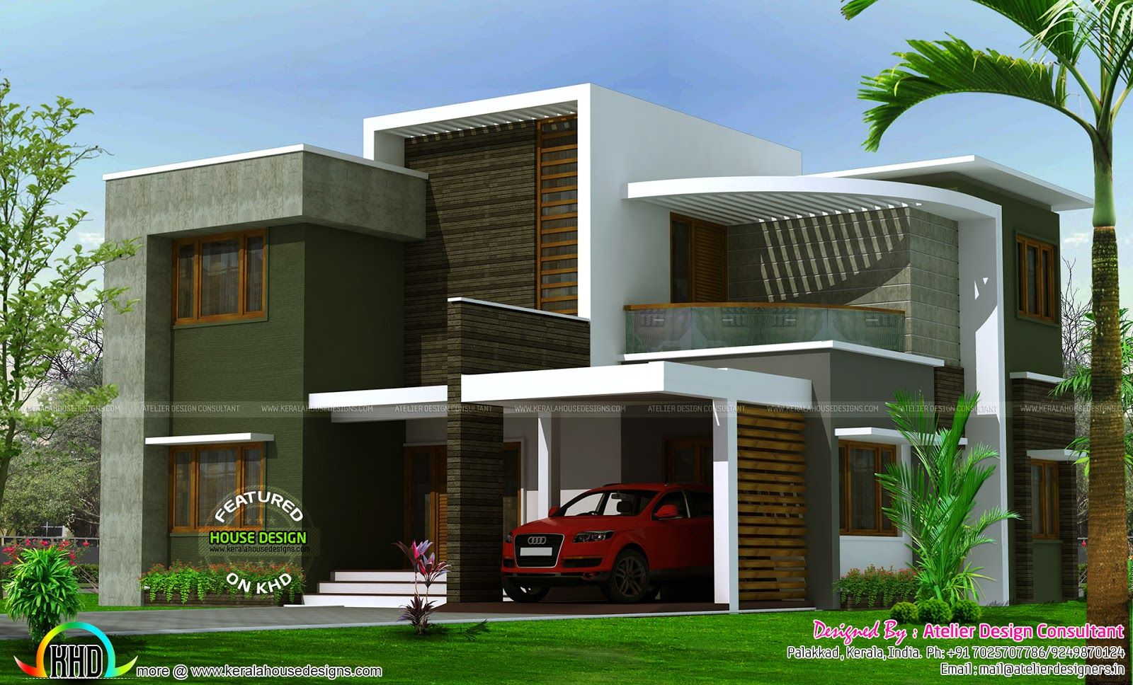 2400 sq ft contemporary box type house