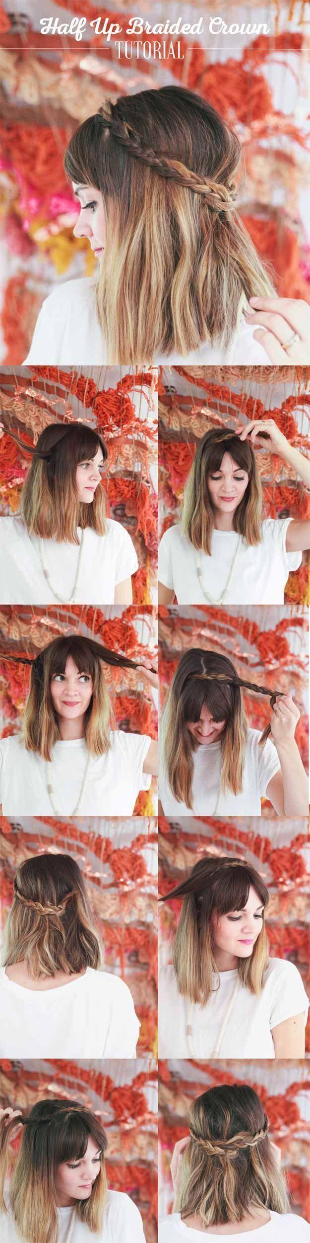Best hairstyles for teens braided half up short shoulder lengt
