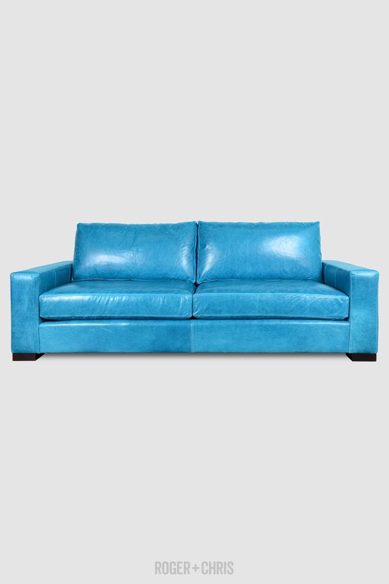 Cole Sofas And Armchairs From Roger Chris Blue Leather Sofa Leather Sofa Blue Sofa