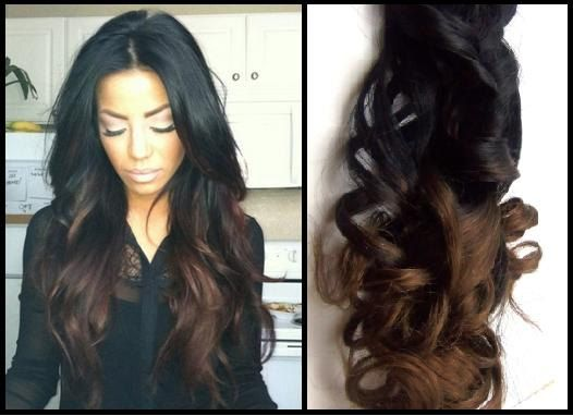 24 Chocolate Ombré Clip In Hair Extensions 100g By