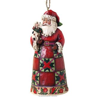 Jim Shore Santa With Puppy Christmas Ornament Christmas Ornaments Christmas Figurines Christmas Puppy