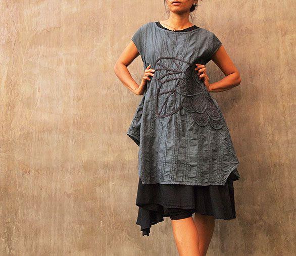 Tunicdress made of muslin