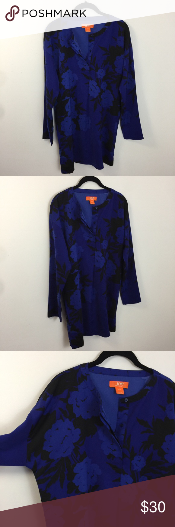 4d24b7150b96a Joe Fresh Navy Black Satin Silk Top Blouse Tunic Joe Fresh Tunic Lot 300e Joe  Fresh Tops