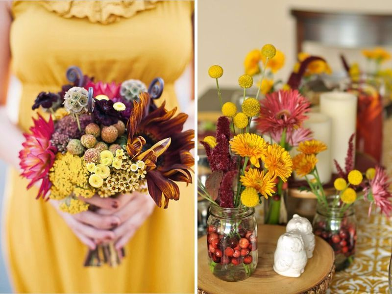 12 Stunning Combinations for Color Schemes for Fall Weddings ...