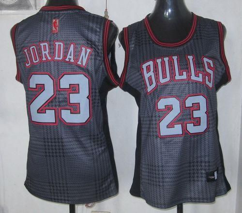 Bulls #23 Michael Jordan Black Women's Rhythm Fashion Embroidered NBA Jersey! Only $22.50USD