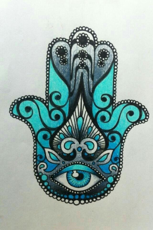Pingl par gemma ortiz sur drawing pinterest tatouage - Coloriage main de fatma ...
