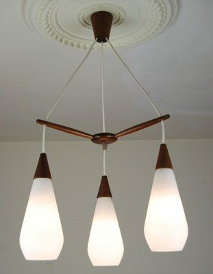 mid century light fixtures. EBay Watch: Three-drop Teak And Glass Midcentury Light Fitting - Retro To Go Mid Century Fixtures D