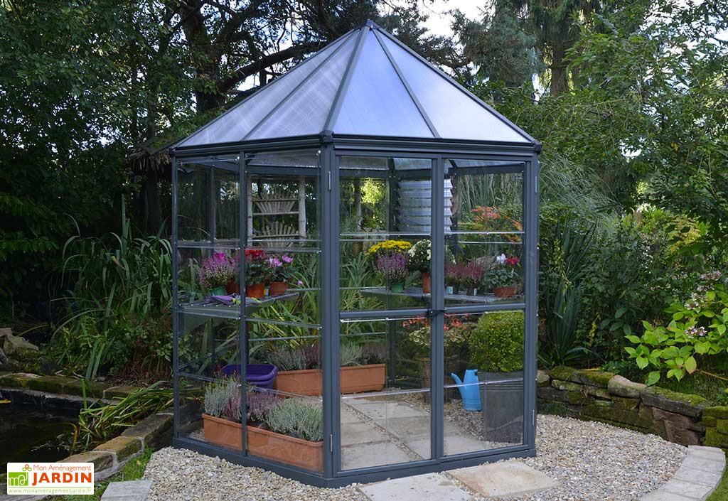 Serre De Jardin Hexagonale Aluminium Polycarbonate Oasis 3 8 M Serre Jardin Serre Arriere Cour Plans De Serre