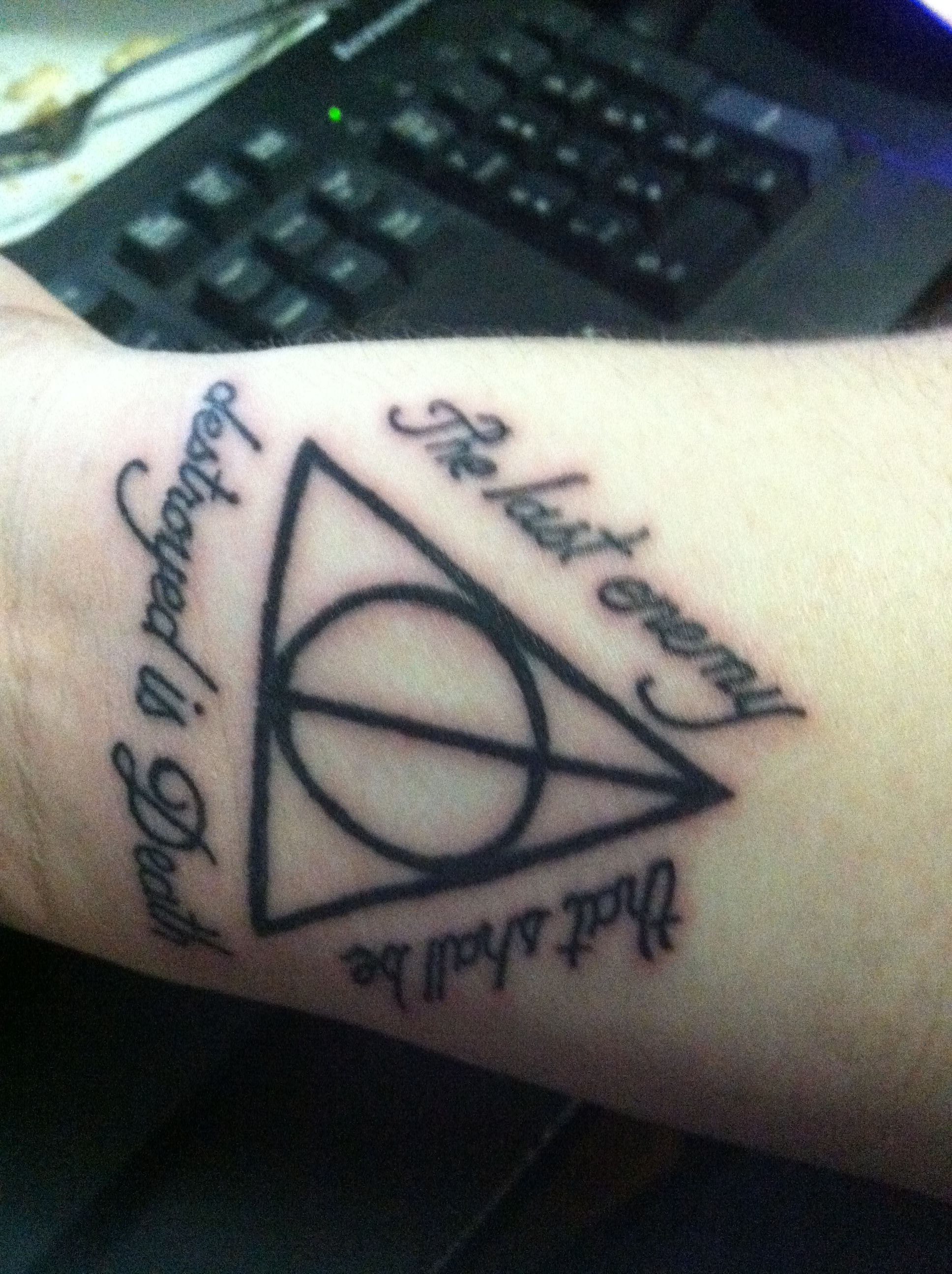 Harry Potter And The Deathly Hallows Tattoo The Last Enemy That