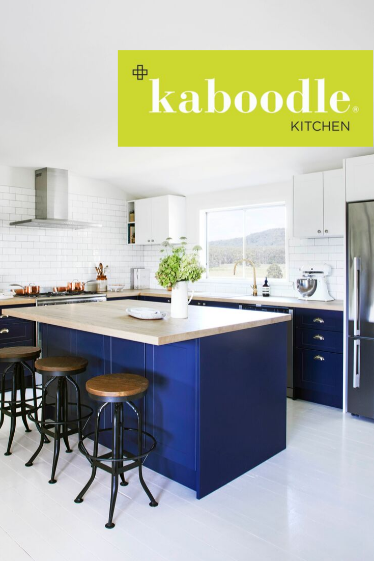 country retreat meets city chic with this enviable kitchen the rich navy colour of bluepea on kaboodle kitchen navy id=96753
