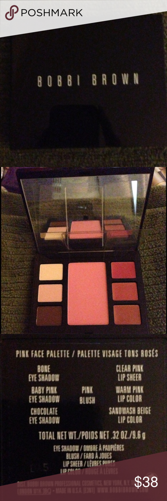 Bobby brown pink face palette Bobby brown pink face palette , eye shadow & lip sheer !! BRAND NEW NEVER USED!!!! Bobbi Brown Makeup Eyeshadow