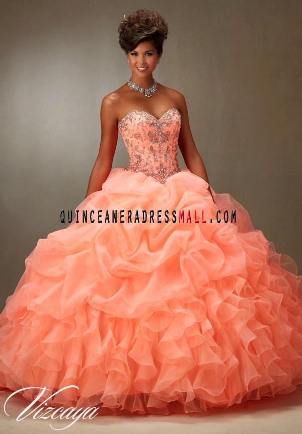 Orange Sweetheart Dresses