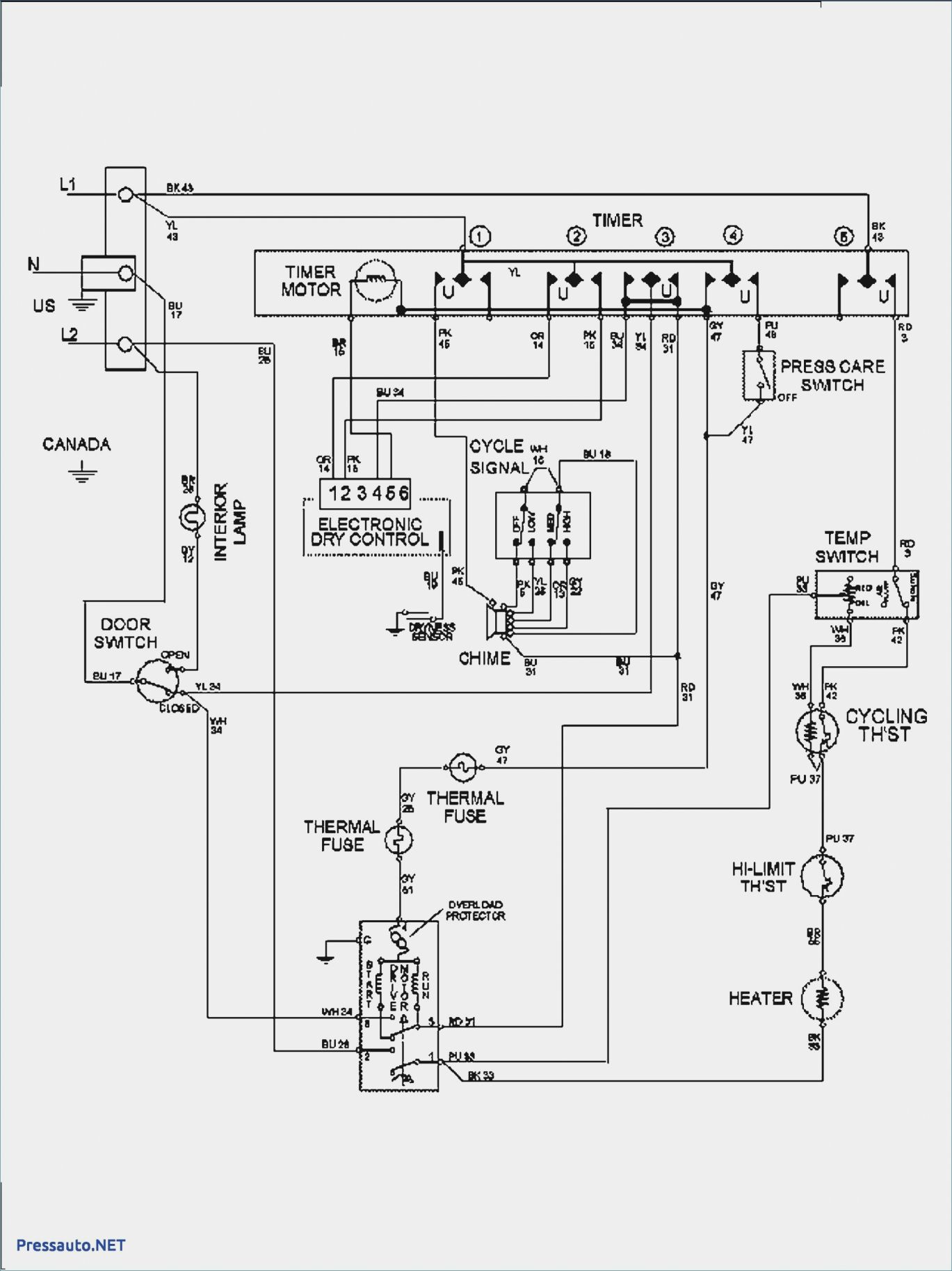 15 Admiral Electric Dryer Wiring Diagramadmiral Electric