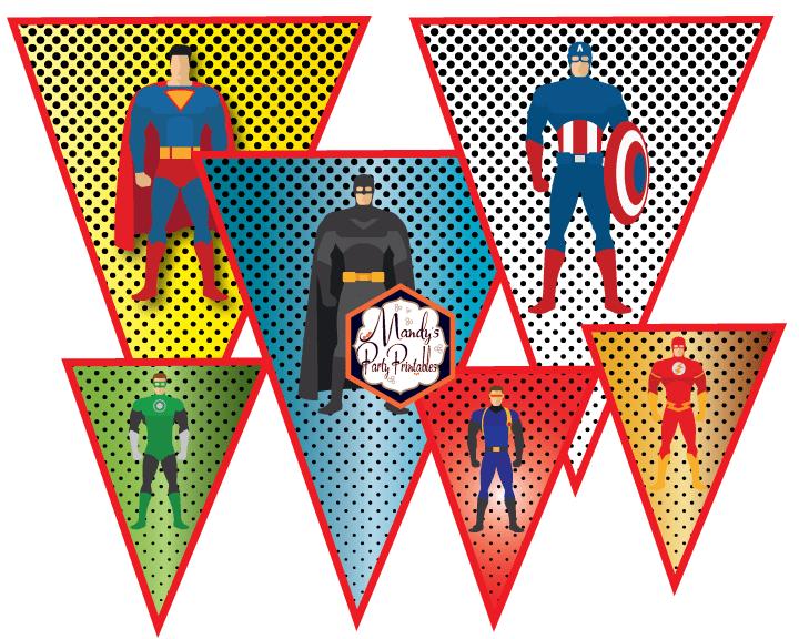 24+ Free printable superhero banner ideas in 2021
