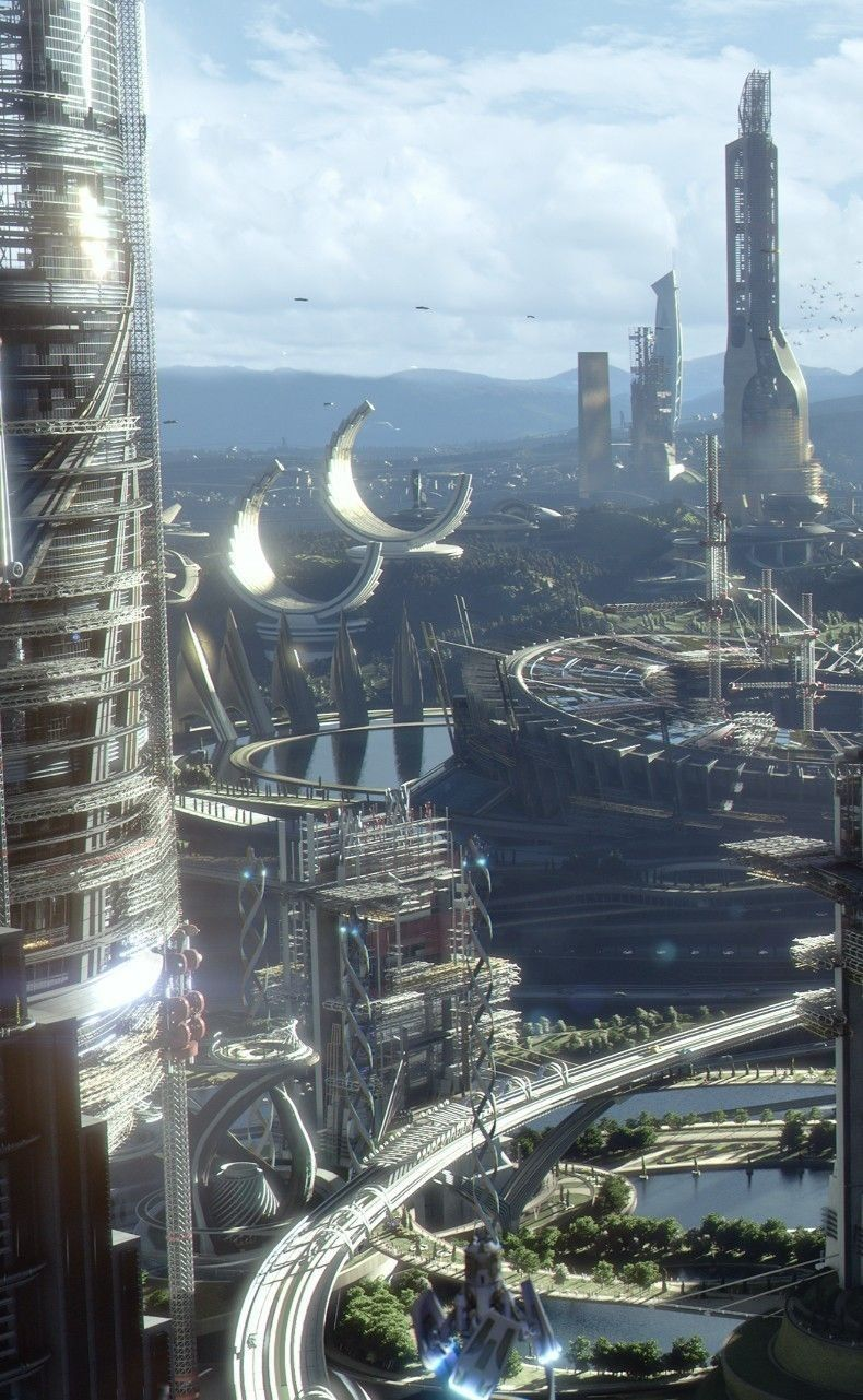 Iastoul Capital Of Phenes Futuristic City Sci Fi Concept Art Fantasy Landscape